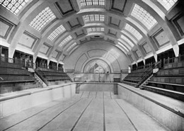 "Photo:""The Marshall Street public baths and public laundry: official opening by his Worship the Mayor, Councillor Captain J F C Bennett, 17 April 1931"", interior view of the baths"